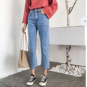 YESSTYLE high rise straight leg jeans
